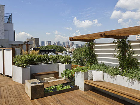 Modern Rooftop Patio Gardens 187 Revive Landscape Design